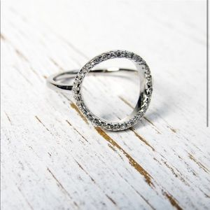 LAST 1 Sterling Silver Circle Ring